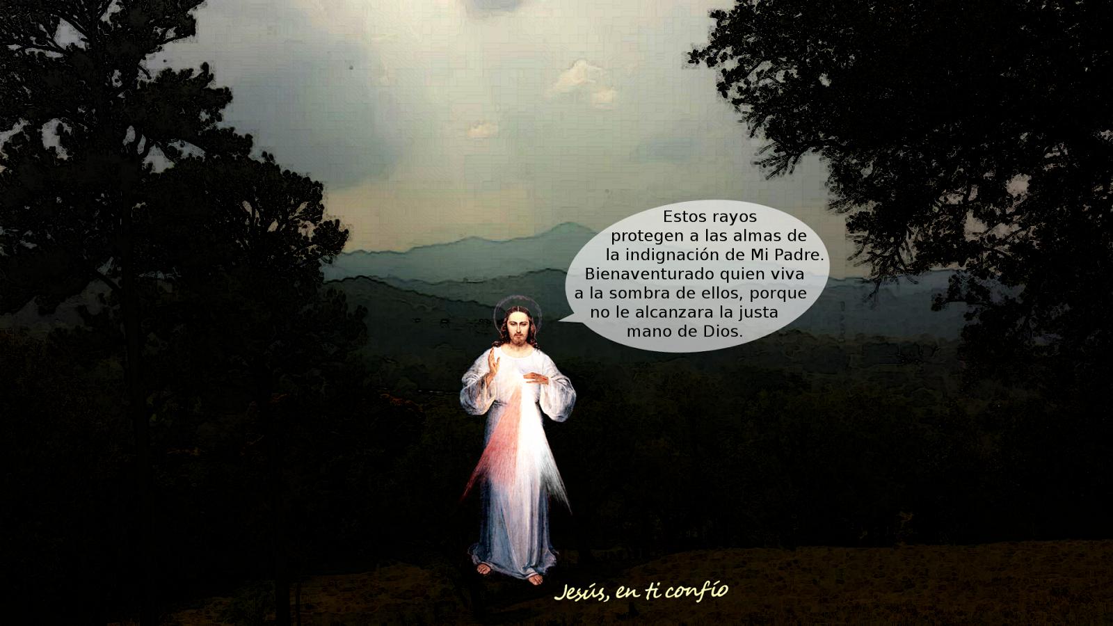 divina misericordia con mensaje