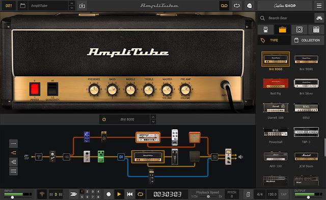 Interface do plugin AmpliTube 5 Complete 5.0.2 - IK Multimedia