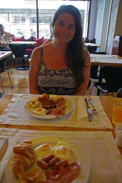 The Herodion Hotel Girl at Breakfast