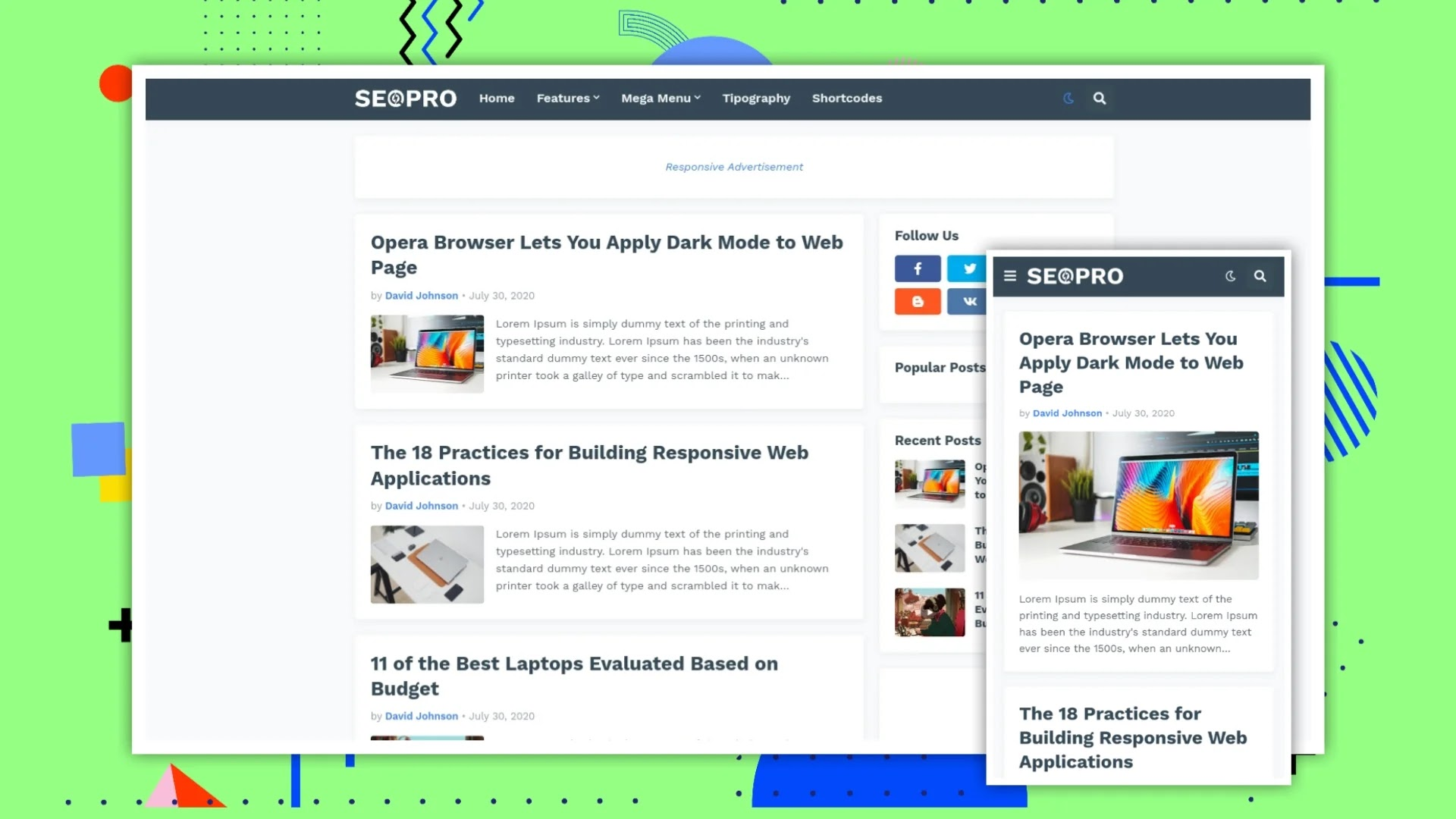 SeoPro Blogger Template