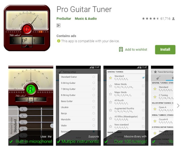 Top 10 Best Free Guitar Tuner Apps for Android Phone | Guitar Tuner Apps Download