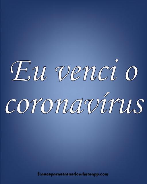 eu venci o coronavírus