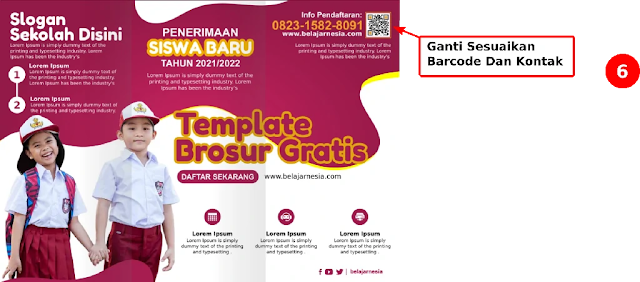 Download Contoh Brosur PPDB Sekolah Dasar  3