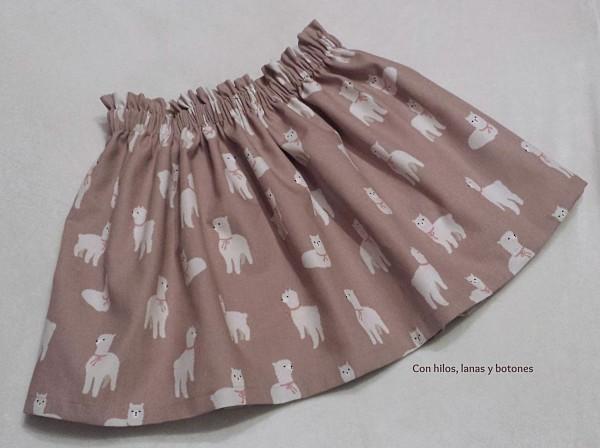 Con hilos, lanas y botones: Falda de alpacas