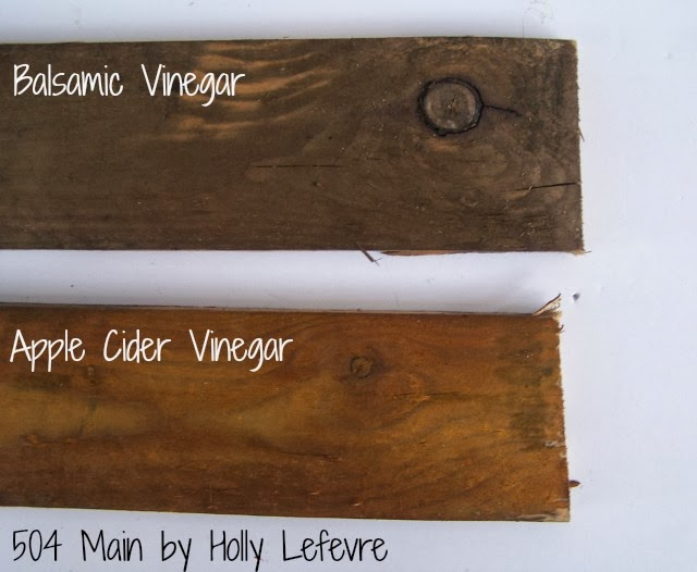 How to Stain Wood with Balsamic Vinegar by 504 Main