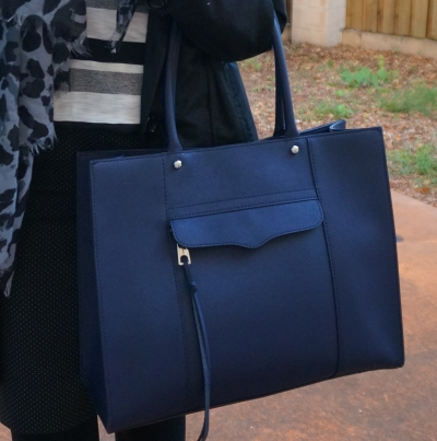 Rebecca Minkoff medium MAB tote in moon navy for the office