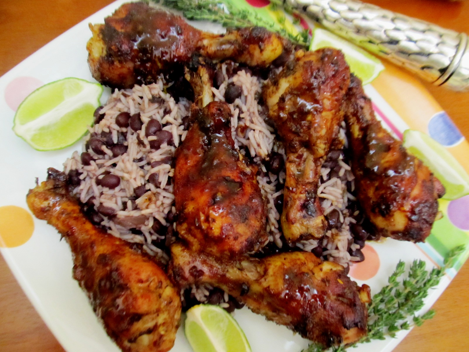 Food and thrift jamaican jerk chicken legs for Authentic jamaican cuisine