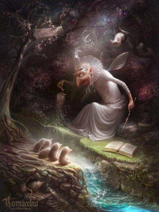 Olga Cornacchia deviantart ilustrações fantasia surreal contos de fada sombria