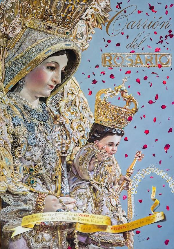 Cartel anunciador de las Fiestas en honor de Nuestra Señora del Rosario de Carrion de los Céspedes