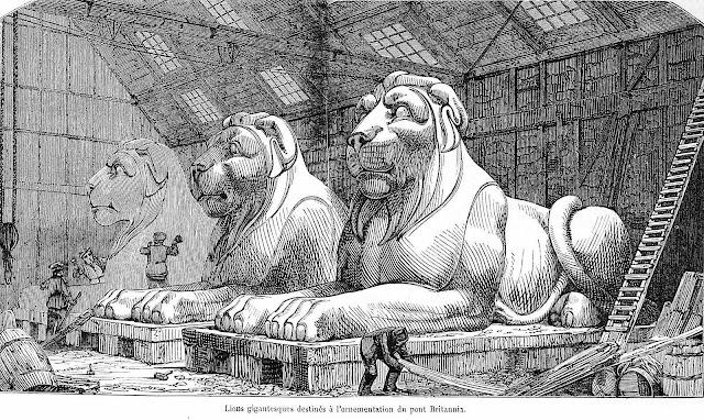 1848 France giant lion sculptures destined for London