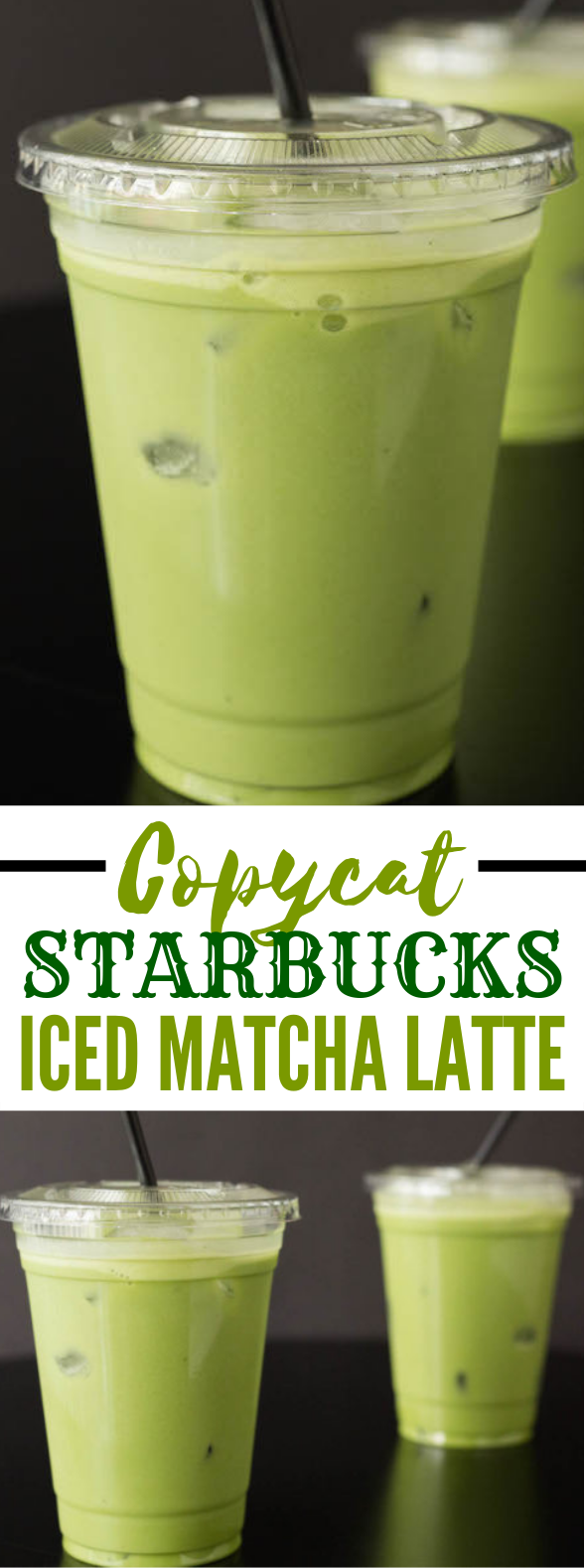 Copycat Starbucks Iced Matcha Latte Recipe #drinks #nonalcoholic
