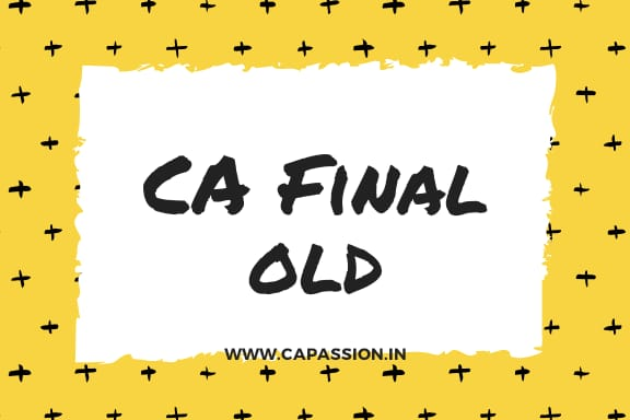 CA Final Old