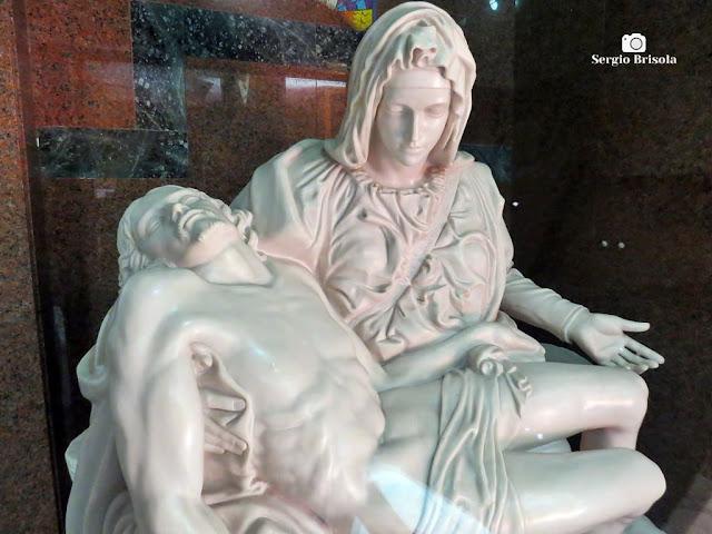 Close-up da Réplica Pietà - Paróquia Santo Inácio de Loiola - São Paulo