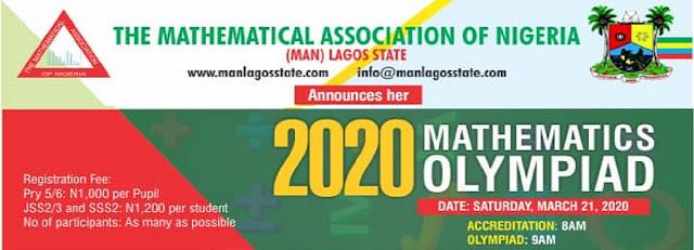 MAN Lagos Mathematics Olympiad Registration Form 2019/2020