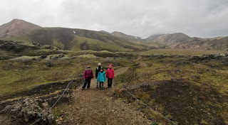 Landmannalaugar, tramo verde de 1,8 km. Islandia, Iceland