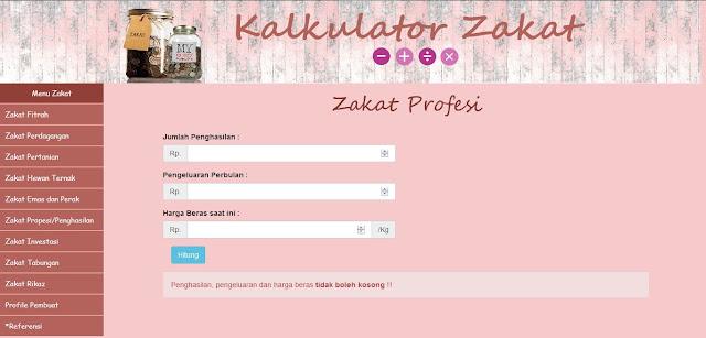 Source Code PHP Kalkulator Zakat Mal