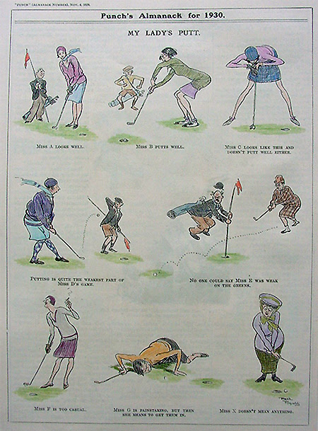 My Lady's Putt - Antique Infographic Evokes Publishing's Past