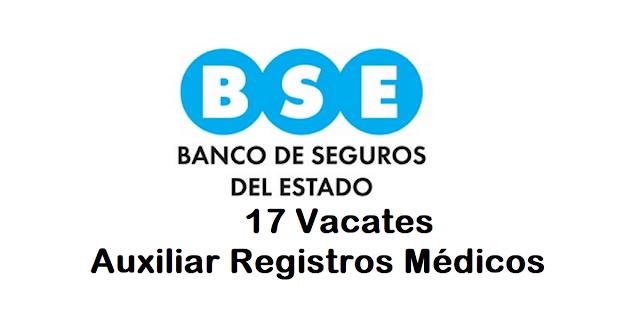 17 vacantes Auxiliar Registros Médicos - BSE