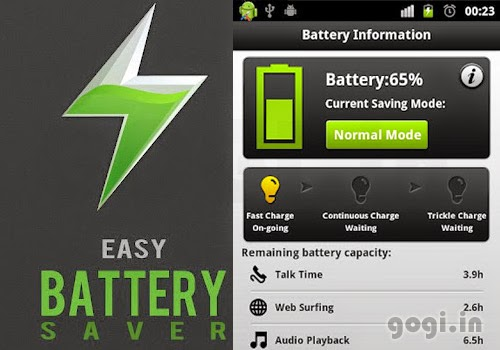 ung dung Easy Battery Saver