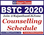 Rajasthan BSTC 2020 Counselling Schedule