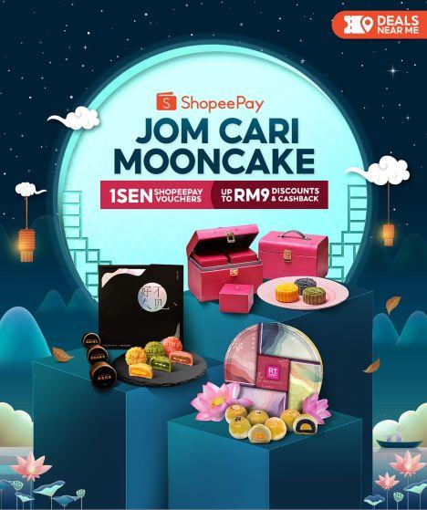 ShopeePay, Jom Cari Mooncake, Lavender, RT Pastry House, FamilyMart, Häagen-Dazs, BaWangChaJi, Tea Garden, Mooncakes, Shopee, Mooncake Sale, Food