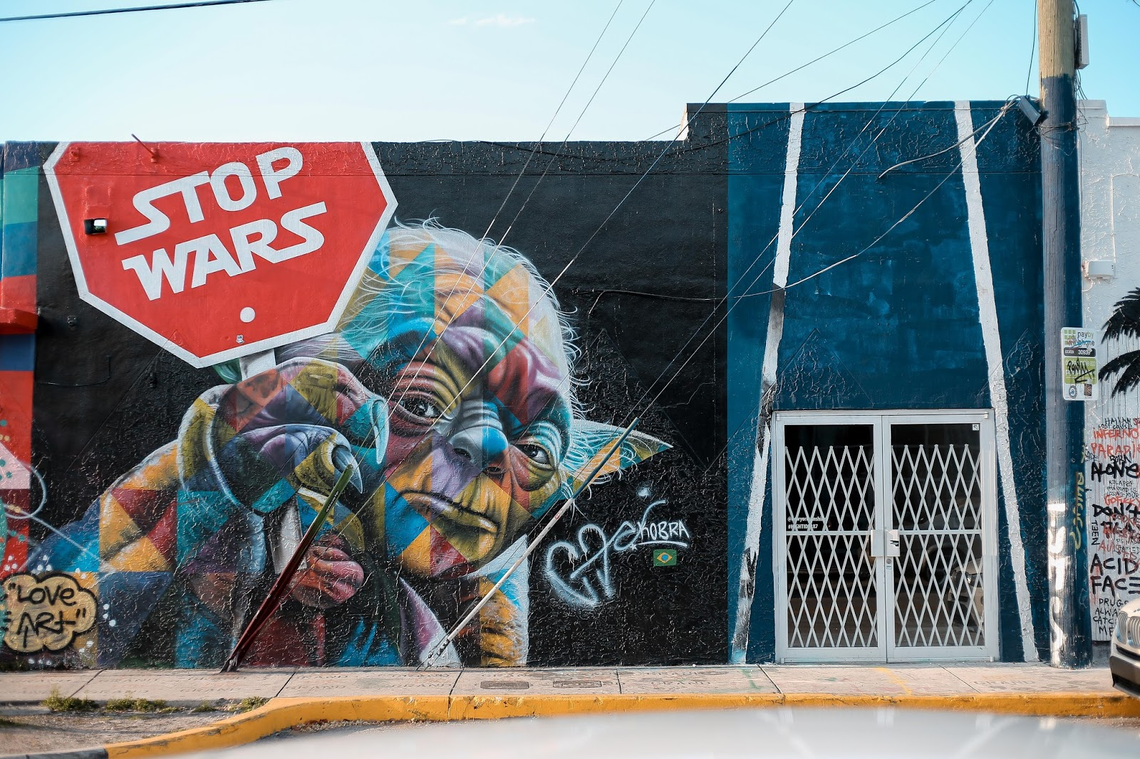 Wynwood Wall in Miami, Florida | Yoda says Stop Wars