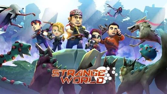 Strange World هي لعبة إستراتيجية في الوقت الفعلي ولعبة لعب الأدوار.في اللعبة ، تلعب كعضو في مجموعة من الناجين بعد عاصفة كونية يقاتلون من أجل البقاء في أرض غريبة.