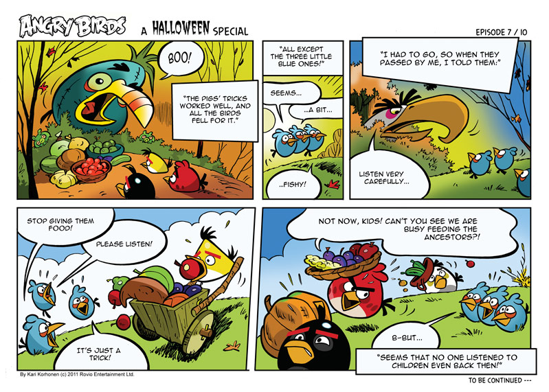 Angry Birds Seasons Halloween Comic All Parts