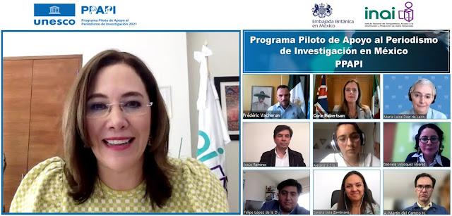 UNESCO, INAI y embajada de Reino Unido anuncian programa piloto de apoyo al periodismo de investigación