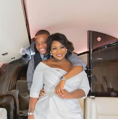 Nigerian celeb Tolu Oniru-Demuren aka OAP Toolz, and her husband, Captain Tunde Demuren