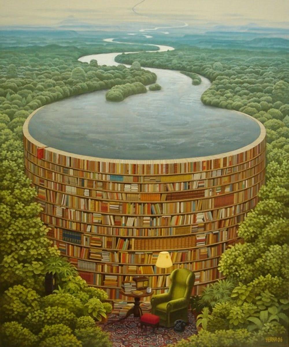 Barragem de Livros - Jacek Yerka e seu surrealismo fantástico ~ Polonês