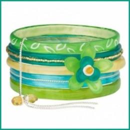 lalo orna resin wrap bangle bracelet