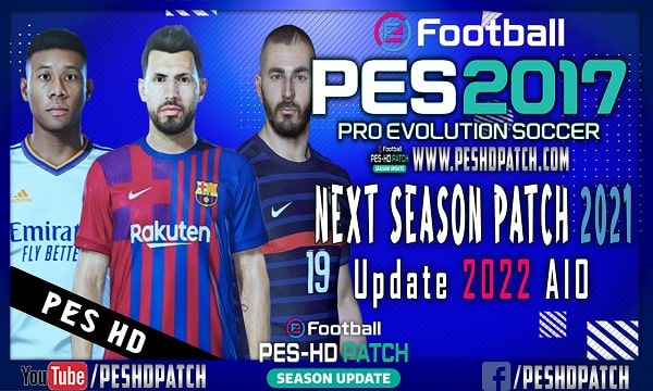 PES 2017 Next Season Patch 2021 Update 2022