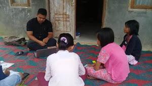 Siswa SD Negeri Pagar Gunung Paluta Pilih Belajar di Rumah Dengan Berkelompok