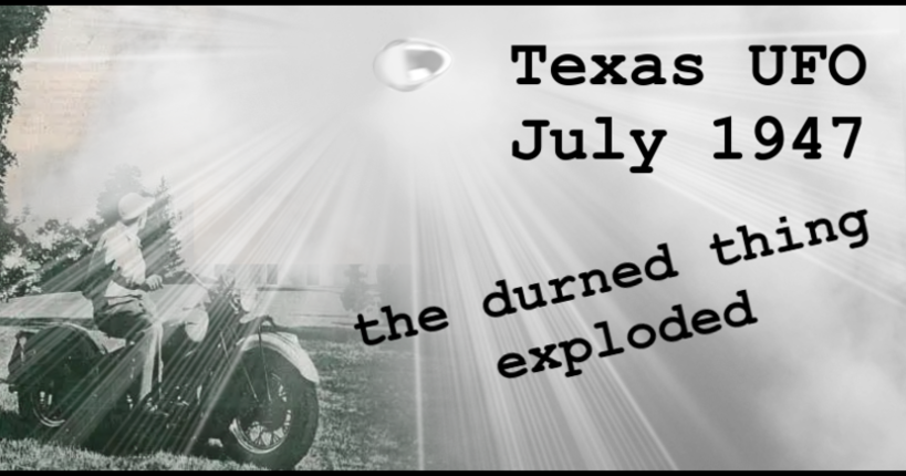 The Texas UFO Crash Debris Photo from July 1947