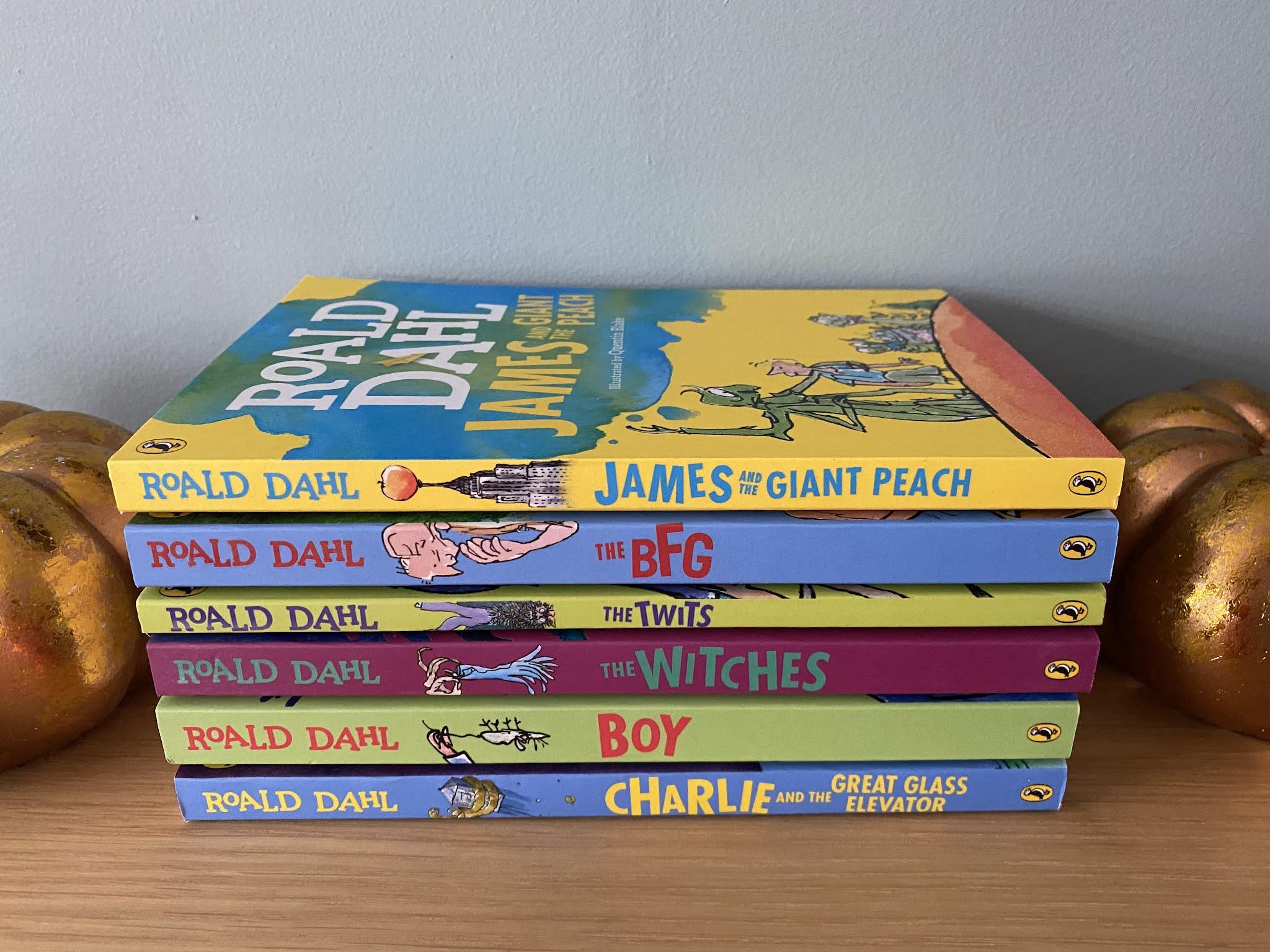 a selection of Roald Dahl books