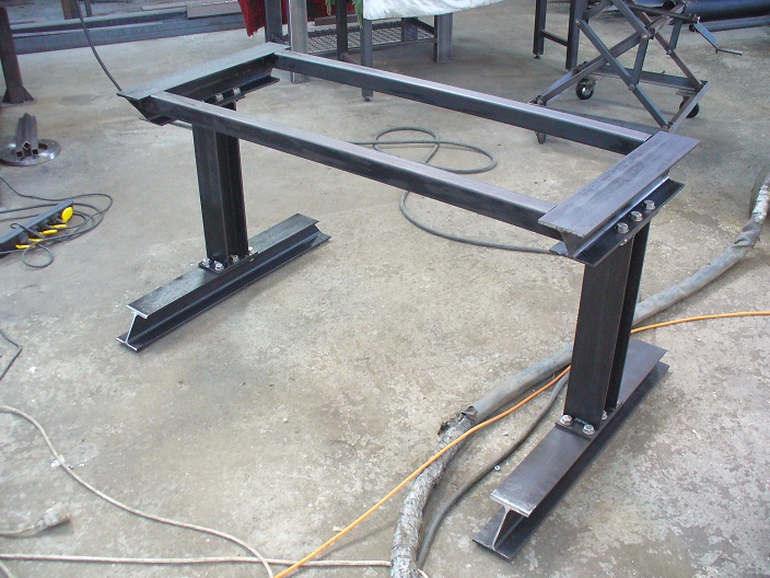 vincent brix cr ations mobilier en acier ambiance indus table d 39 atelier. Black Bedroom Furniture Sets. Home Design Ideas