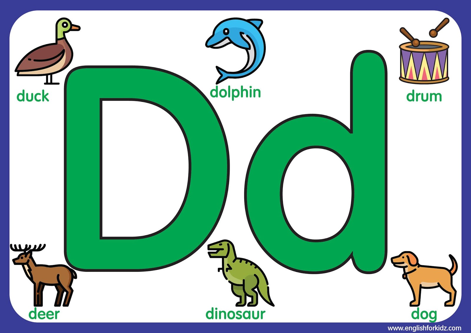 Big Printable Alphabet Letters A To E