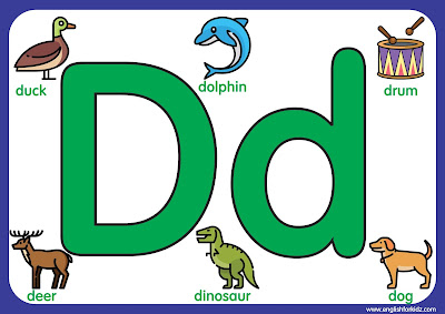 Letter d - big printable alphabet letters