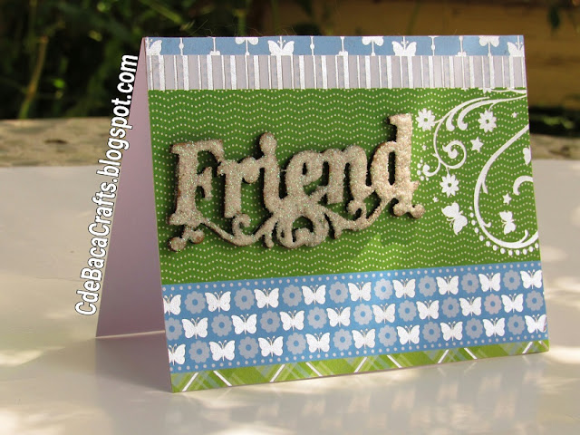Cute Handmade Cards for Friends with Butterflies as Crafty Cards by CdeBaca Crafts Blog.