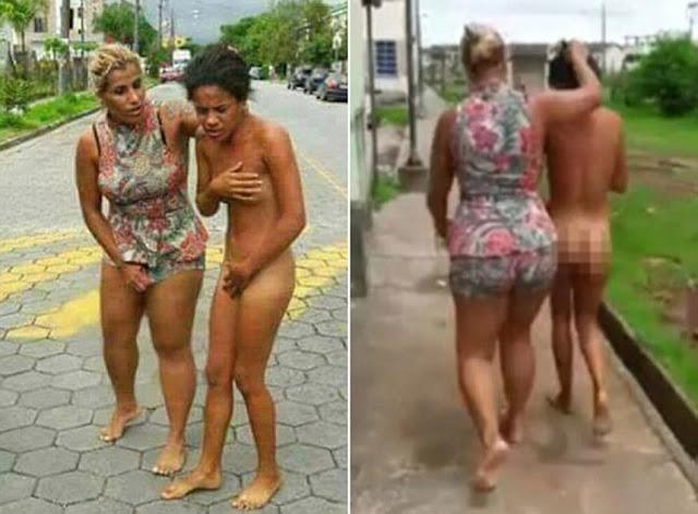 Разъяренная жена провела любовницу мужа голышом по улицам города