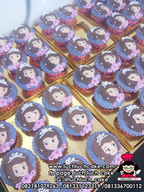 Souvenir Cupcake Ulang Tahun Sofia The First