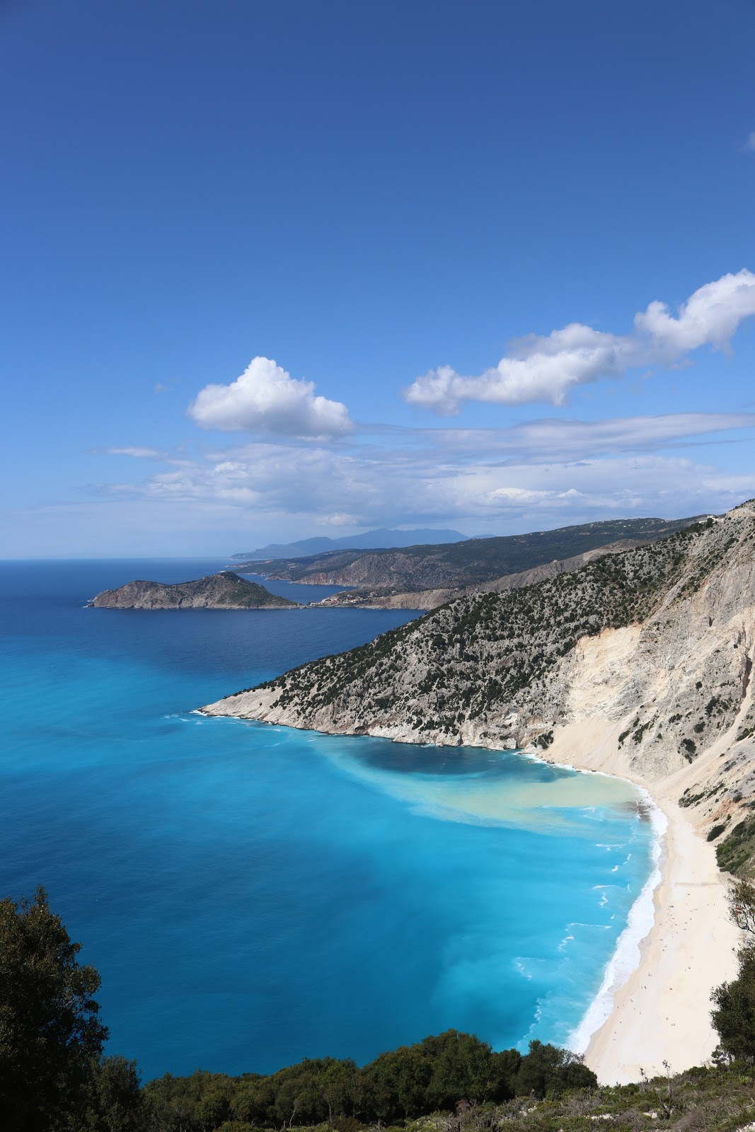 Myrtos Beach, White sand and turquoise waters