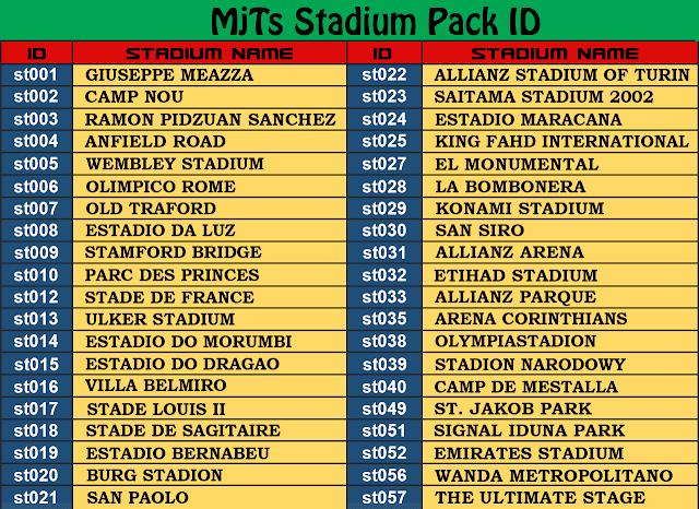 Stadium Pack PES 2017