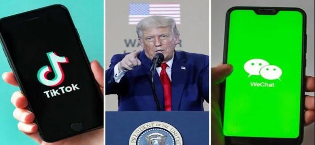 حظر تحميل  TikTok و WeChat بشكل نهائي في الولايات المتحدة الأحد