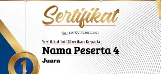 Free Sertifikat.Docx : Download Sertifikat Word Plus Fitur Cetak Masal