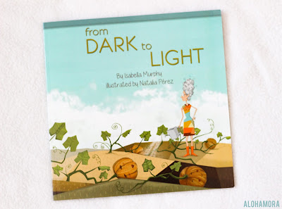 From Dark to Light by Isabella Murphy picture book published by a student author.  Book review. Planting, watering, and picking pumpkins for a jack-o-lantern. Personification. kidlit 2 out of 5 stars. Alohamoraopenabook Alohamora Open a Book http://alohamoraopenabook.blogspot.com/