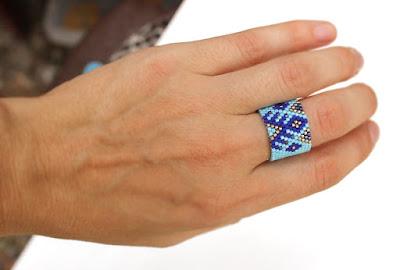 бисерная бижутерия оригинальные кольца широкие кольца для женщин