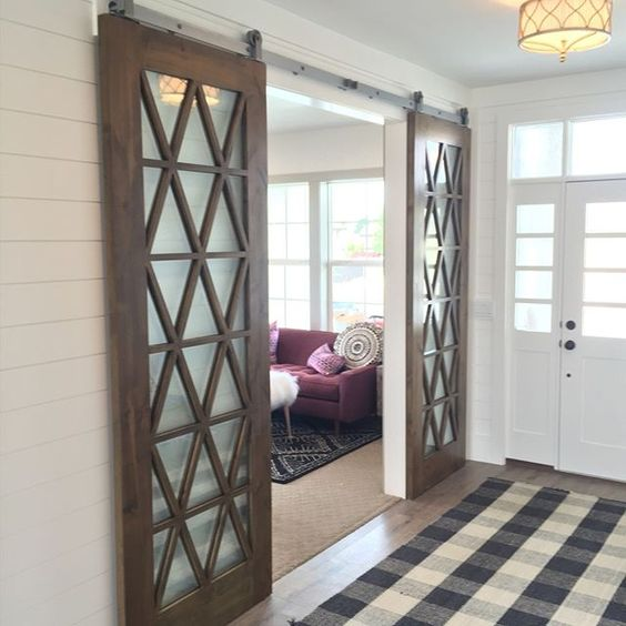 View from my heels interior barn doors for Barn doors for inside your house