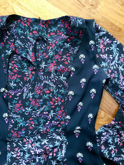 Diary of a Chain Stitcher: Mixed Print Parker Collection Dress from Tribe Patterns at The Foldline designed by Fiona Parker